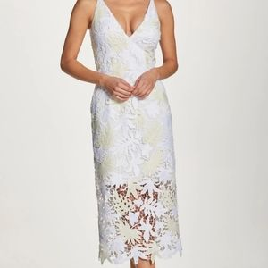 Dress the Population aurora midi floral lace dress